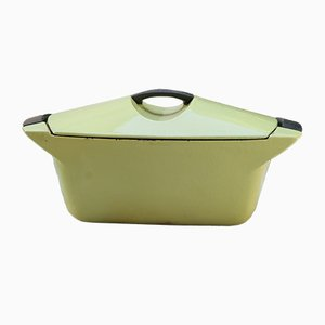 Yellow Vintage Casserole by Raymond Loewy for Le Creuset, 1970s