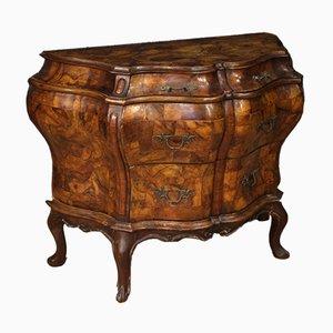 Coiffeuse de Style Louis XV en Noyer, en Loupe de Noyer, en Buis et en Hêtre