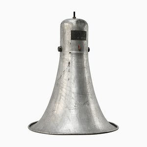 Mid-Century Industrial Gray Aluminum Ceiling Lamp, 1950s
