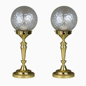 Art Deco Tischlampen, 1920er, 2er Set