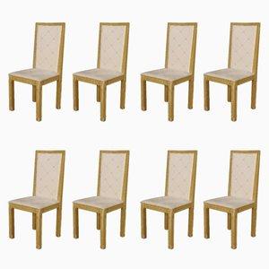 Italienische lackierte und bemalte Vintage Stühle, 8er Set