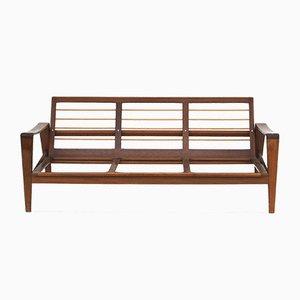 Skandinavisches Modell 35 3-Sitzer aus Holz Sofa von Arne Wahl Iversen für Komfort, 1960er