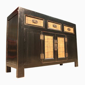 Chinese Black Lacquered Sideboard, 1950s