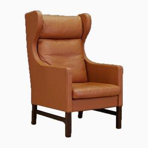 Dänischer Vintage Stuhl aus Leder von Skippers