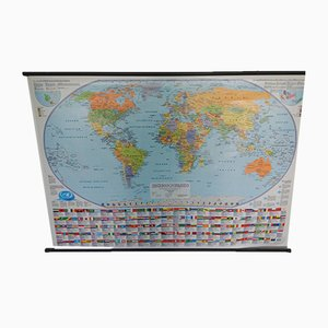 Political and Physical World Map from LS International Cartography, 1980s