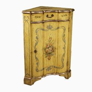 Mueble esquinero veneciano de madera lacada, años 50
