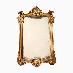 Espejo italiano dorado, años 50