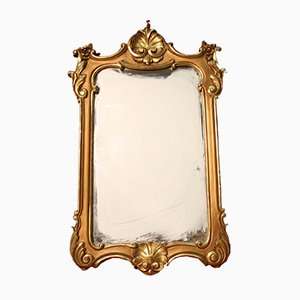 Italienischer vergoldeter Spiegel, 1950er