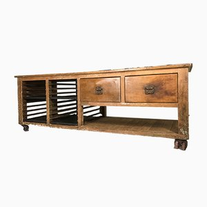 Industrielle Vintage Werkbank aus Pinienholz