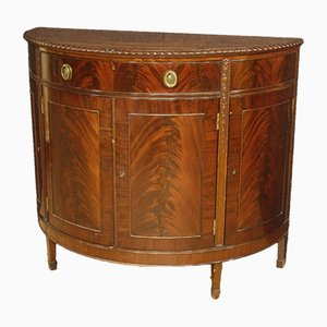 English Mahogany Half-Moon Sideboard, 1950s