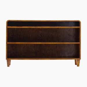 Walnut Veneered Bookcase from Svenska Möbelindustrierna, 1940s