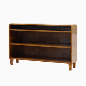 Walnut Veneered Bookcase from Svenska Möbelindustrierna, 1940s