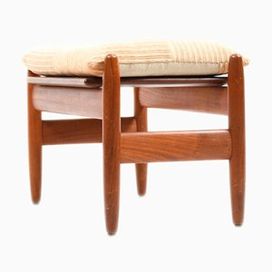 Danish Teak Wooden Footstool by Hans Olsen, 1950s