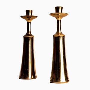 Moderne Kerzenhalter von Jens Quistgaard für Dansk Designs, 1950er, 2er Set