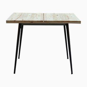 Vintage Industrial Square Dining Table, 1960s