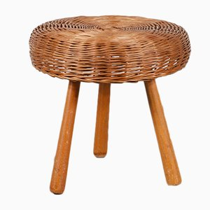 Wicker Stool by Tony Paul, 1950s