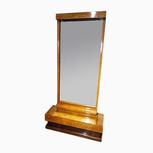 Französischer Vintage Spiegel mit Rahmen aus Palisander & Zitronenholz, 1930er