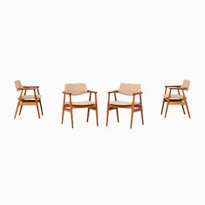 Esszimmerstühle von Svend Aage Eriksen für Glostrup, 1960er, 4er Set