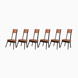 Esszimmerstühle aus Pagholz von Angelo Mangiarotti, 1950er, 6er Set
