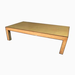 Brass & Pagwood Coffee Table by Aldo Tura, 1960s