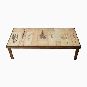 Table Basse avec Carreaux en Céramique par Roger Capron, 1960s