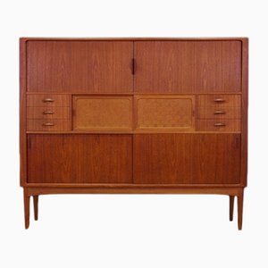 Vintage Danish Teak Veneer Highboard from Uldum Møbelfabrik