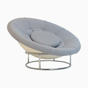 Bird's Nest Chrome & Fiberglass Lounge Chair, 1970s