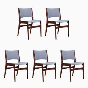 Dänische Vintage Stühle aus Teakholz von Johannes Andersen, 5er Set