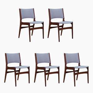 Vintage Danish Teak Chairs by Johannes Andersen, Set of 5
