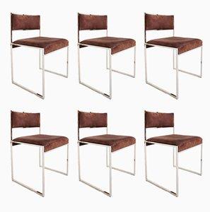 Stühle aus Büffelleder von Willy Rizzo, Set fo 6, 1970