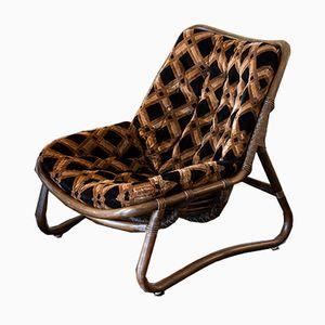 Italian Bamboo Lounge Chairs, 1970s, Set of 2
