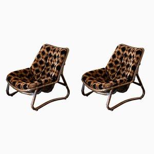 Italienische Sessel aus Bambus, 1970er, 2er Set