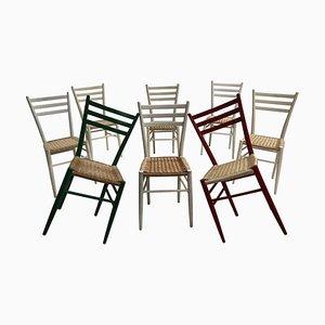 Chaises de Salle à Manger Mid-Century, Italie, 1960s, Set de 8