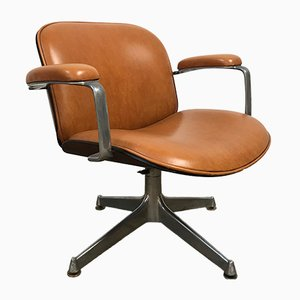 Sedia in pelle di Ico Parisi per MIM, anni '60