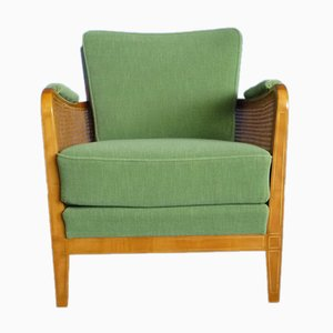 German Cherry Club Chair from Schildknecht, 1950s