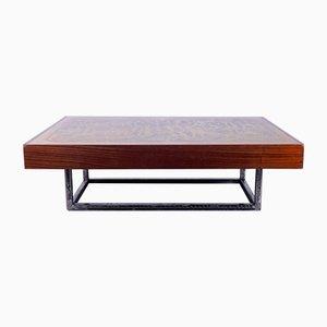 Mesa de centro vintage de cobre de Bernhard Rohne, años 70