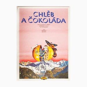 Vintage Bread and Chocolate Movie Poster by Miloslav Disman, 1975