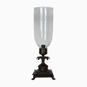 Tischlampen im Regency Stil mit Sturmschirmen, 1930er, 2er Set