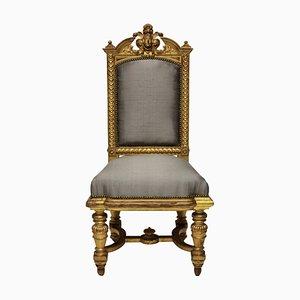 Chaises Napoleon III Antiques Dorées, 1860s, Set de 2