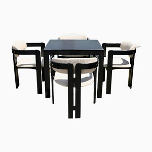 Pigreco Dining Table Set by Tobia Scarpa for Gavina, 1970s