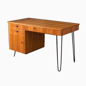 Vintage Walnut Desk from Lübke, 1950s