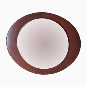 Oval Teak Mirror by Campo e Graffi for Home, 1950s