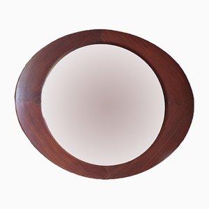 Ovaler Spiegel aus Teakholz von Campo e Graffi für Home, 1950er