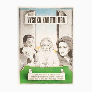 Vintage The Scopone Game Filmplakat von Antonín Sládek, 1970er