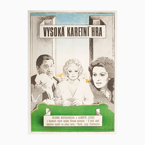 Vintage The Scopone Game Movie Poster by Antonín Sládek, 1970s