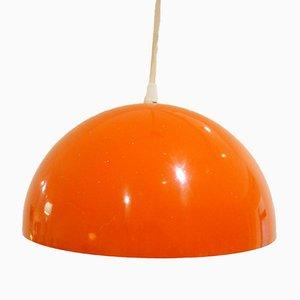Lampe Suspendue Laquée Orange, 1970s