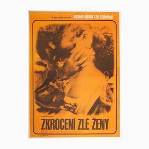 Vintage Taming Of The Shrew Movie Poster by Radek Očenášek, 1960s
