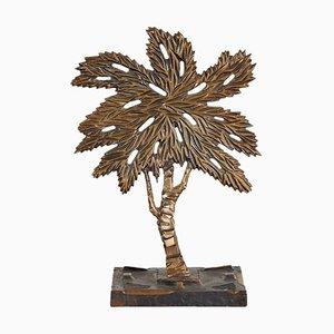 Escultura de árbol de bronce de Mario Rosello, años 70
