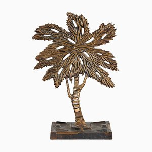 Skulptur in Baum-Optik aus Bronze von Mario Rosello, 1970er