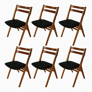Scandinavian Modern Customizable Chairs by Arne Vodder for Sibast, 1960s, Set of 6